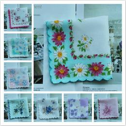 Wholesale Lady s Cotton Crescent Edge Lace Handkerchief Childhood Memories Retro Handkerchief