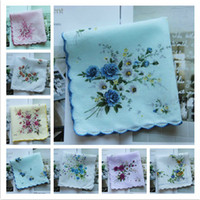 Wholesale Fashion Women Cotton Crescent Lace Handkerchief Children Flower Handkerchief