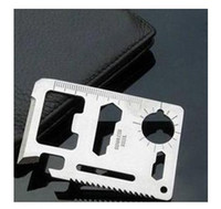 Wholesale Multipurpose Universal outdoor survival knife card camping card Army Knife Saber Card pc