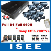 Box/Body S-8708S-I90E Ultra HD outdoor CCTV security system Ultra HD 8CH Full D1 Full 960H DVR 700TVL 72IR Varifocal Sony CCD Effio Outdoor HDMI CCTV Security Camera System With 1TB HDD