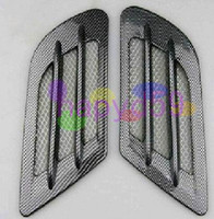 Wholesale 1pair car shark gills inlet hose modification outlet imitation carbon fiber car decoration stickers side vents fenders Shark gills outlet