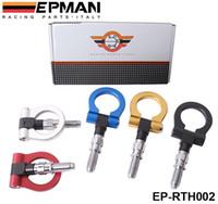 EPMAN Racing Billet aluminio gancho de remolque para el coche europeo (Bule / rojo / oro / negro / plata) EP-RTH002 / TK-RTH002