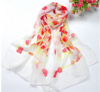 Wholesale lady scarf fashion shawl chiffon High quality chiffon scarves Little rose chiffon scarves beach towels10pcs