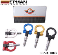 aluminum trailers - EPMAN Racing Billet Aluminum Tow Hook Front Rear For BMW European Car Trailer Bule Red golden Black silver EP RTH002