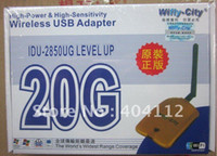 Guangdong China (Mainland) Yes Stock Free DHL UPS shipping!!! 50pcs Wireless WIFI USB 2.0 adapter wifly- city 20G wireless wifi lan card network Cards