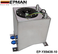 Fuel Tank aluminium fuel cell - EPMAN L Aluminium Surge tank mirror polish Fuel cell foam inside with sensor For Universal EP YX9438