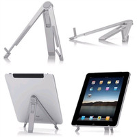 Cheap Wholesale - Portable Metal A-Fram Folding Desk Stand Holder Kit for Tablet PC Flytouch Superpad 3 4 5 iPad 1 & 2