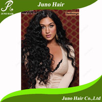 Wholesale Sunnymay Cheap Long Synthetic Lace Front Wig Water Wave Natural Black Celebrity Hairstyle quot quot Wig s001 Juno Hair