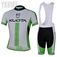 Wholesale CYCLING SHORTS JERSEY BIB SHORTS kuota LOOK Cycling Kit Jersey Pants Bike Clothes SETS white amp BLACK XS XL