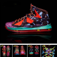 Mid Cut Men PU 2013 Brand Fashion MVP Lebrons X Basketball shoes Athletic Shoes On Sale Size 41-47 Outdoor Boots Trainers