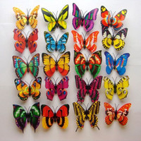 Wholesale cm D Artficial Double Wing Butterfly Wedding Decoration Fridge Magnet Refrigerator Magnet Butterfly