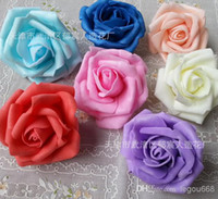 Wholesale p Pe cm quot PE Foam Artificial Rose Camellia Flower Heads Wedding Christmas Party Decoration