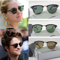 Wholesale New men CLUBMASTER electronic glasses sunglasses men with labels cleaning packing cases rb3016