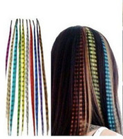 Wholesale Hot Sale New synthetic rooster grizzly feather hair extension one needle piler