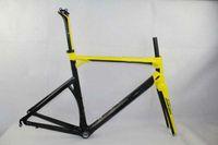 Wholesale 2013 amp new arrival Impect full crabon bike frame Road bike Bicycle Frame seatpost yellow carbon fiber carbon road bike frame