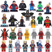 Wholesale Super Heroes Iron Man Series Figures The Avengers General Zod Superman Batman Spider Man Action Minifigures Brick Toys