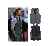Vests beer tanks - men s vest Beckham vest men s casual suit vest tank tops vest undershirt beer for men singlet