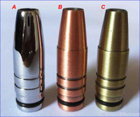 Wholesale EGO with Drip Tips Electronic Cigarette Bronze Bullet Drip Tip Coppery Bullet Mouthpiece Silvery Metal For EGO T EGO Batteries