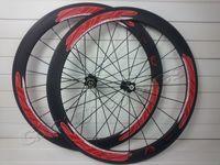 Road Bikes sram red - 700C mm red black ZIPP firecrest carbon wheelset rims clincher with novatec hubs s5 FFWD sram tubular carbon R36 hubs