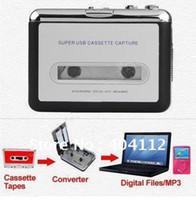 Wholesale 40pcs free fedex Tape to PC Super Portable USB Cassette to MP3 Converter Capture USB cassette capture