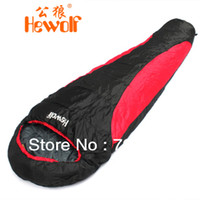 Wholesale Hewolf thermal sleeping bag autumn and winter envelope hooded outdoor camping sleeping bag adult KG