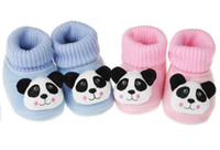 Wholesale 12Pairs Velvet Baby infant winter Soft Sole Walking Shoes prewalker First Walker Shoes socks cotton cartoon Panda month