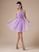 Cheap Elegant Short Lavendar Tulle Strapless Neckline Womens Homecoming Dress 2013 dresses r82 #u11-Poo