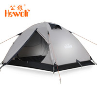 Wholesale Hewolf Outdoor Camping People Aluminum Storm Tent Color Khaki Olive green Weight KG Size CM CM CM