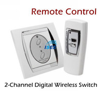 Wholesale 2 Channel Digital Wireless Remote Control Switch Elegant Design