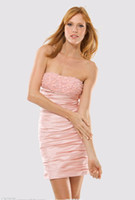 Cheap Reference Images Cocktail Dresses Best Strapless Crepe party prom dress