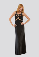 Wholesale maxi new fashion floor length vestidos de fiesta formal saxy backless elegant evening prom gown black long party Dresses
