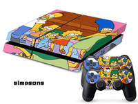 PS4   Vinyl Decal Skin Stickers Wrap For PS4 Play Station 4 Console+ Controllers-Simpsons 0044