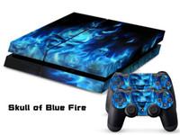 Wholesale Vinyl Decal Skin Stickers Wrap For PS4 Play Station Console Controllers Fire Ghost