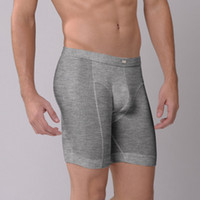 Wholesale Men s fashion elastic modal breathable sports ridingboxer underwear male ultra long butt lifting body shaping sports underwear