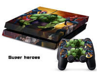 PS4   Vinyl Decal Skin Stickers Wrap For PS4 Play Station 4 Console+ Controllers-Super Heros0046