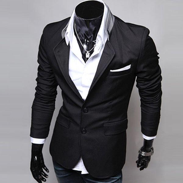 S5Q Mens Casual Clothes Slim Fit Stylish Suit Blazer Coats Jackets ...