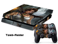 PS4   Vinyl Decal Skin Stickers Wrap For PS4 Play Station 4 Console+ Controllers-Tomb Raider 0050