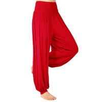 Wholesale S5Q Women Lady Harem Yoga Cotton Comfy Long Pants Belly Dance Boho Wide Trousers AAABOF