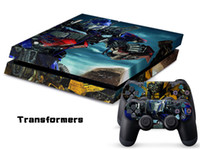 Wholesale Vinyl Decal Skin Stickers Wrap For PS4 Play Station Console Controllers Transformer