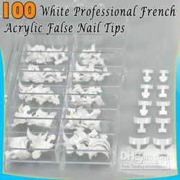 Wholesale Acrylic French Nail Art Side Tips White Set Case
