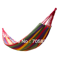 Cotten Outdoor Furniture Yes Camping hammock swing outdoor thickening canvas hammock casual single bearing,120KG bearings,Free shipping