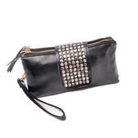 Wholesale S5Q Fashion PU Leather Wallet Soft Women Card Coin Holder ZIP Wallet Clutch Purse AAACVE