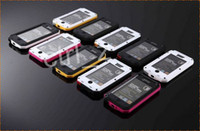 Wholesale 1 New Extreme Case Cover Aluminum Metal Case with tempered Gorilla Glass Premium Protection for iPhone S S