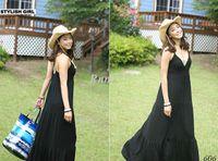Casual Dresses V_Neck Ball Gown Women Bohemian Long Dress Summer Maxi Sexy Dress 3770