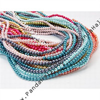 Wholesale Glass Pearl Beads Strands Pearlized Round Mixed Color mm Hole mm HY D M