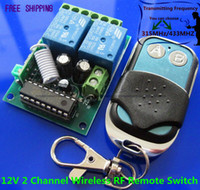 Cheap Free Shipping DC 12V 2 Channel Wireless RF Remote Control Switch Module 315MHZ 433MHZ