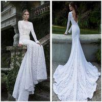 Cheap Wedding Dress Best Lace Long Sleeves berta Bridal Gowns