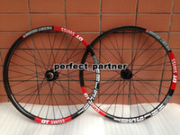 Wholesale 2014 Superior MTB Mountain Bicycle Wheel Sets er Carbon Fiber Clincher Bicycle Wheelset with Brake Pads New Arrivals Hot Sale A105
