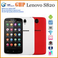 Wholesale Original Lenovo S820 MTK6589 Quad core G RAM G ROM Android Mobile phone smartphone quot IPS HD Screen Multi Language Russian Add Gifts