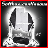 Wholesale Photography Lighting Rectangle SoftBox Continuous Video Photo Studio Five Head Light Holder Stand Set Photographic Equipment Kit